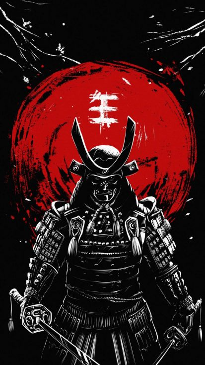 Ninja Samurai - iPhone Wallpapers