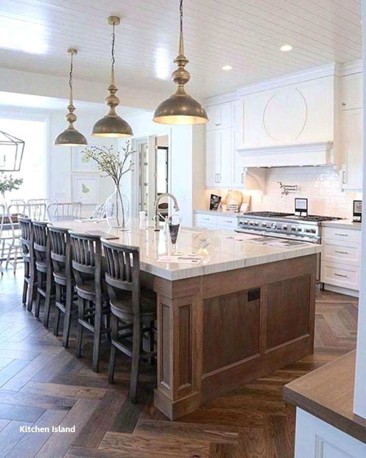 Kitchen Island Ideas Farmhouse In 2020 Home Decor Kitchen White Kitchen Design Kitchen Island Design