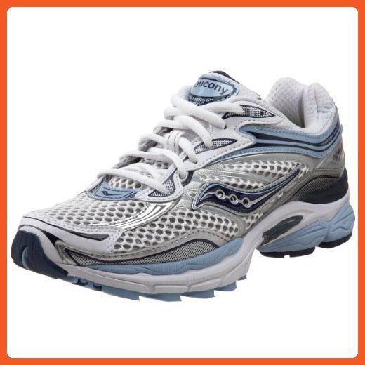 626b180b1e36c Saucony Women's ProGrid Omni 9 Running Shoe,White/Blue,6.5 M US ...
