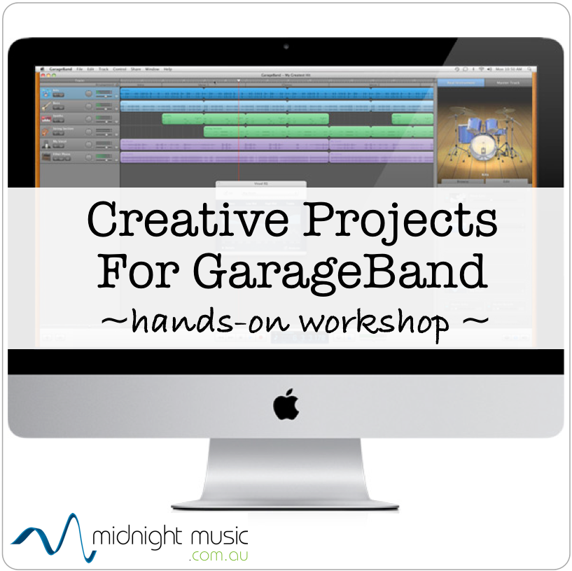 Creative Projects for GarageBand. Live courses take place