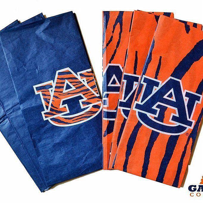 auburn gift tissue paper au tiger orange blue logo ncaa