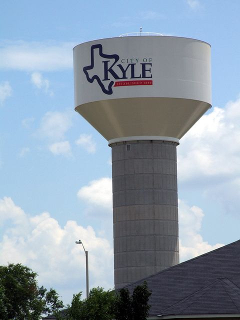 Water Tower In Kyle With Images Texas Water