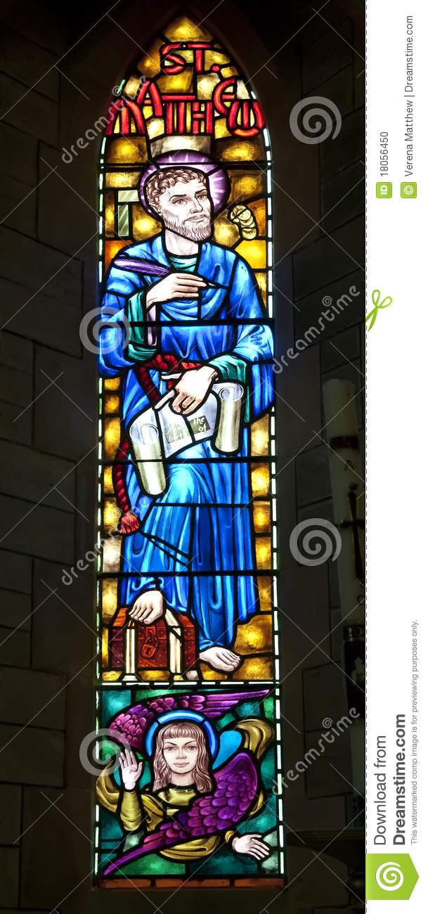 St Matthew And The Winged Man Stained Glass The Winged Man Is The
