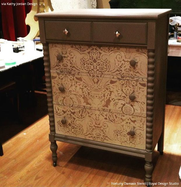 Charmant 15 DIY Home Decor Ideas: Painting Large Furniture Stencils Upcycling  Projects