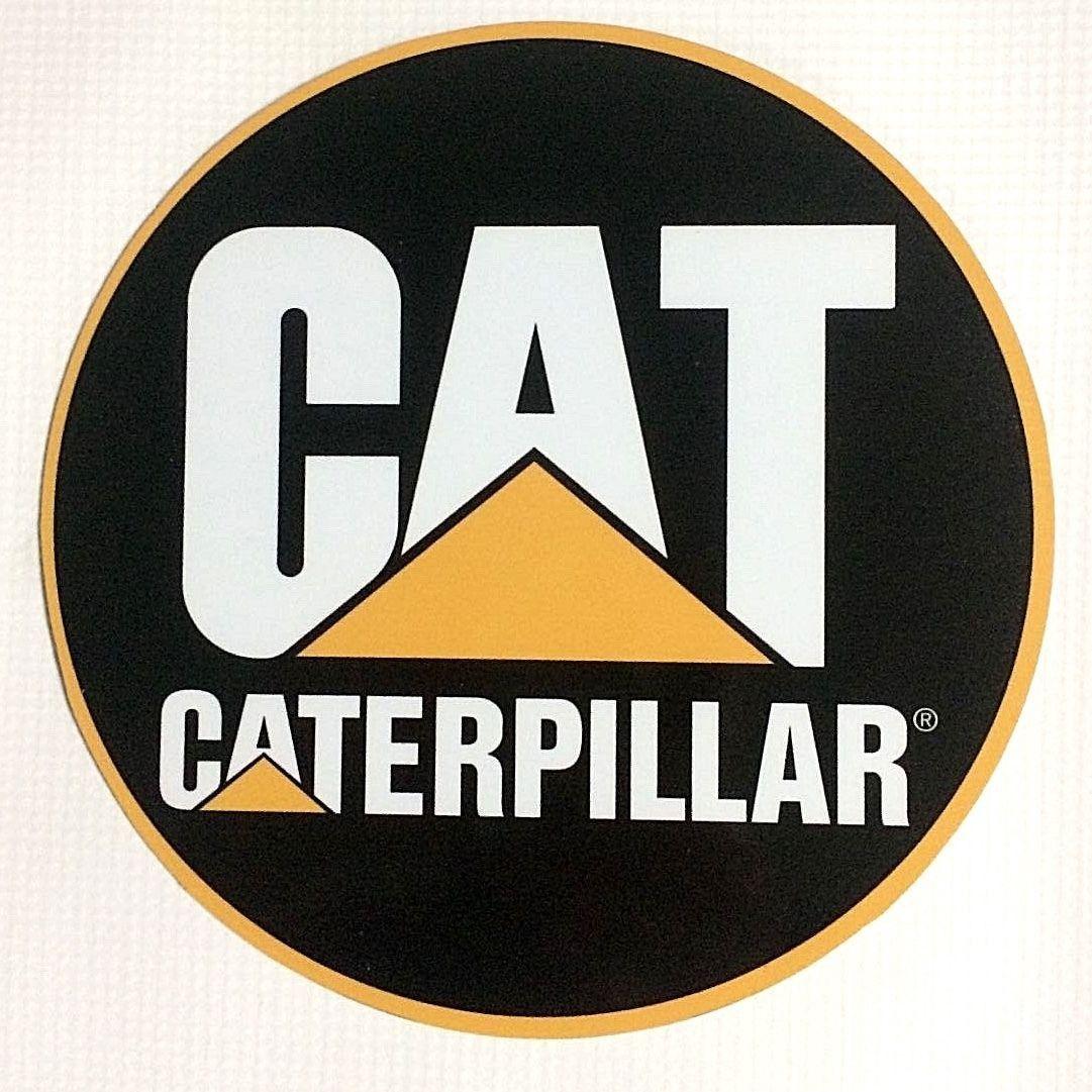 Bike stickers design online india - Caterpillar Cat Logo 7 Round