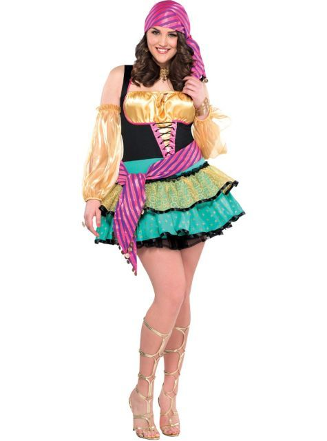 womens plus size mystical gypsy costume with waist sash halloween city - Mystical Halloween Costumes
