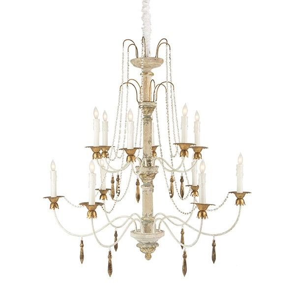 Francesca Gilded Chateau Chandelier Beaded Chandelier Country