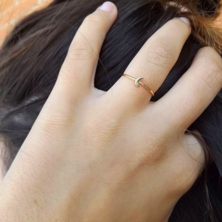 Dainty Simplistic Stackable Ring 18K Gold Plated Minimalistic Ring Vintage Ring