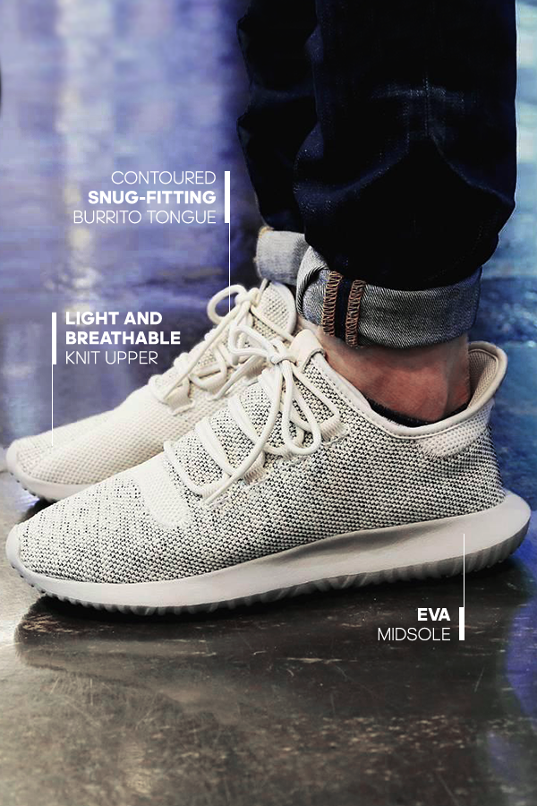 a95d067602a Enjoy stylish simplicity in the adidas Tubular Shadow Casual Shoes. With a  super light and breathable knit upper