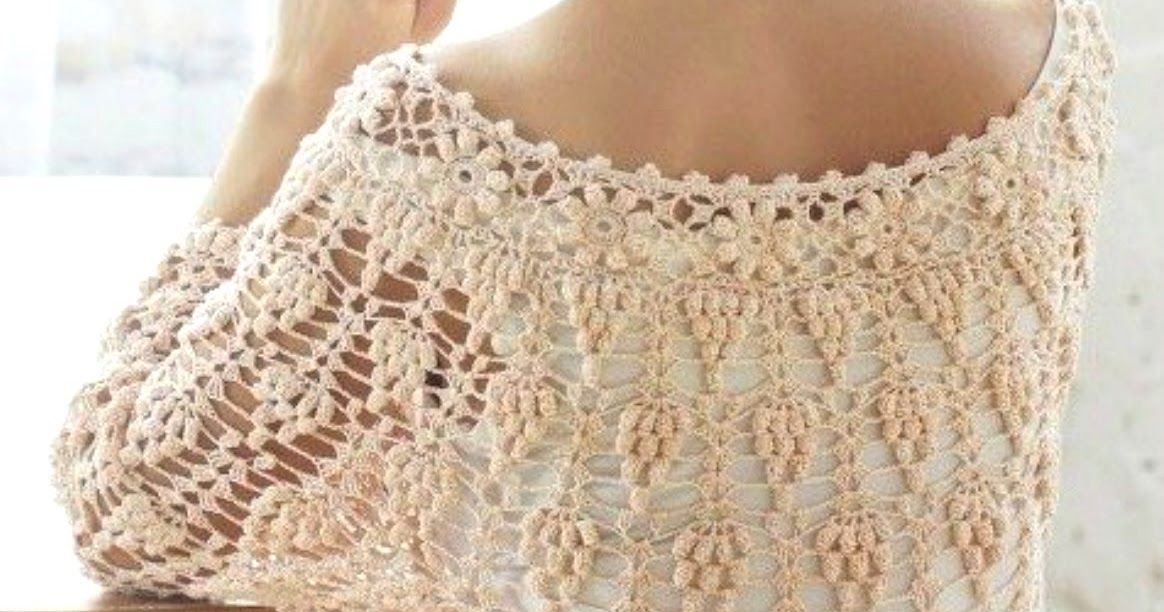 Patrones Crochet: Jersey-tunica calada con racimo de uvas ...