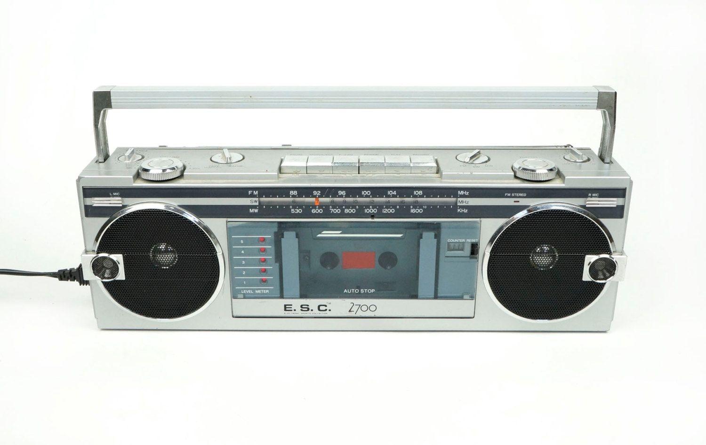 E. S. C. TBS2700 AM/FM Radio Tape Cassette Player Stereo