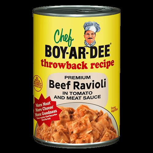 Beef Ravioli Chef Boyardee Classic Food Ravioli