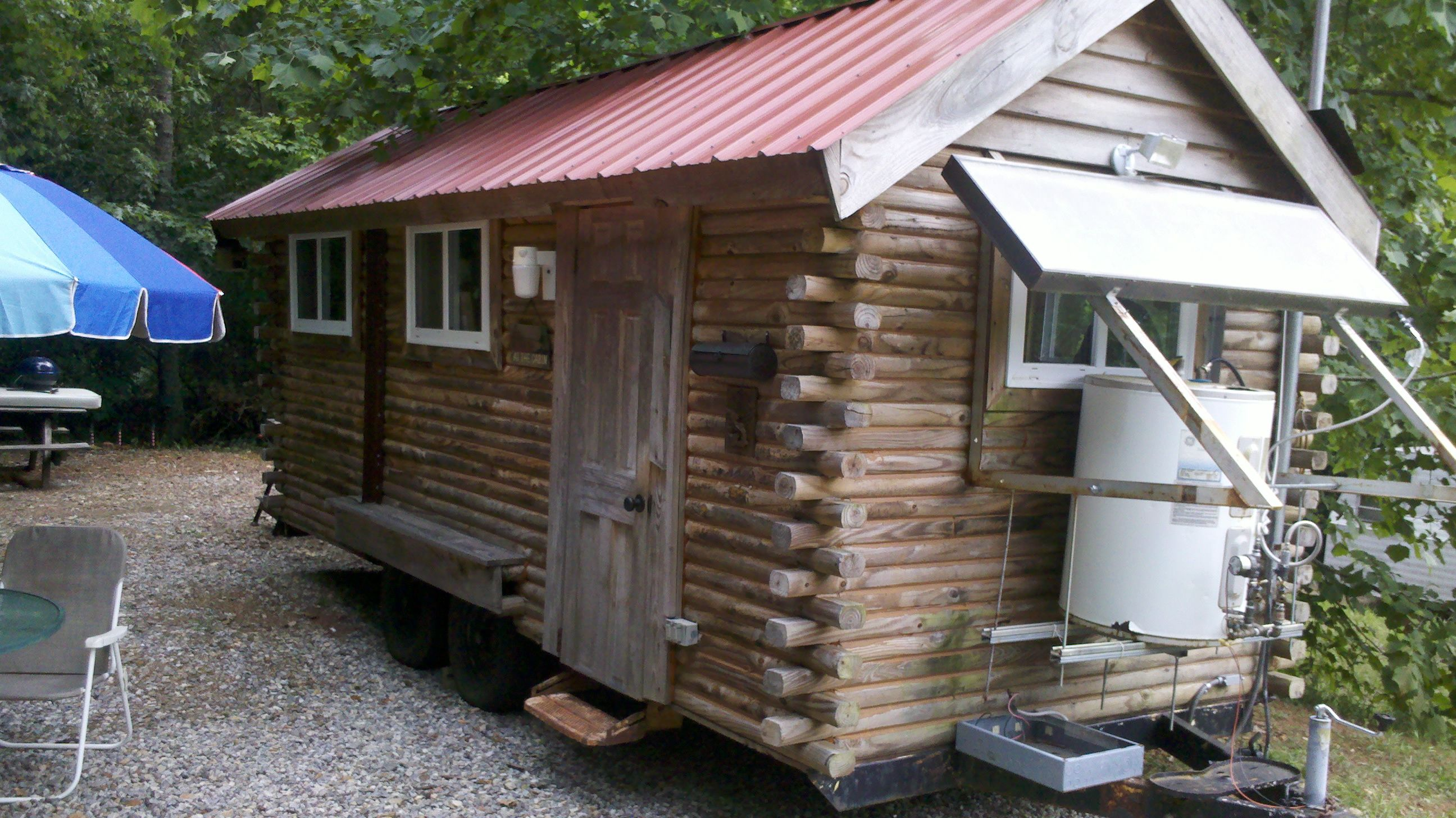 Cabin Made From Landscape Timbers The Little Wheels In