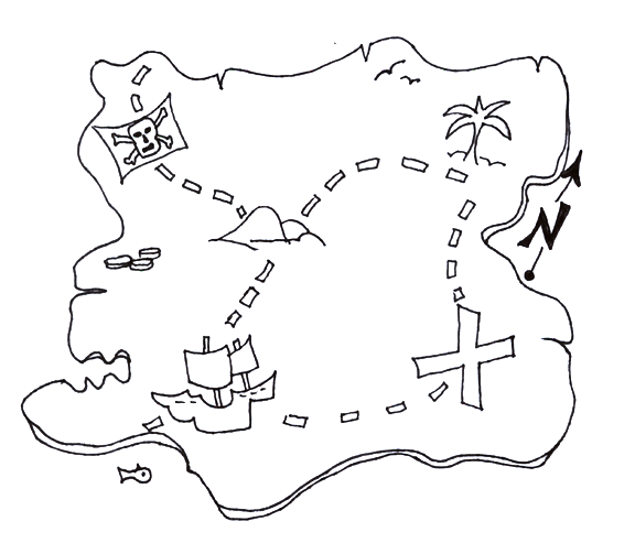 Printable Treasure Map Coloring Page pre k stuff Pinterest