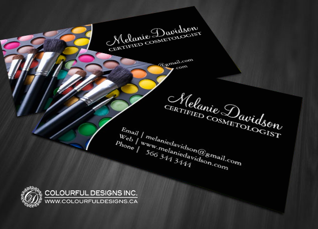 Makeup artist business card template business card showcase fully customizable makeup artist business cards created by colourful designs inc cheaphphosting Image collections