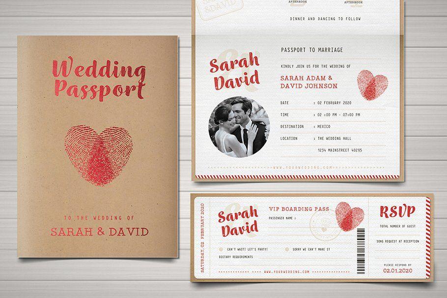 Vintage Passport Wedding Invitation Passport Wedding Invitations Passport Invitation Template Passport Invitations
