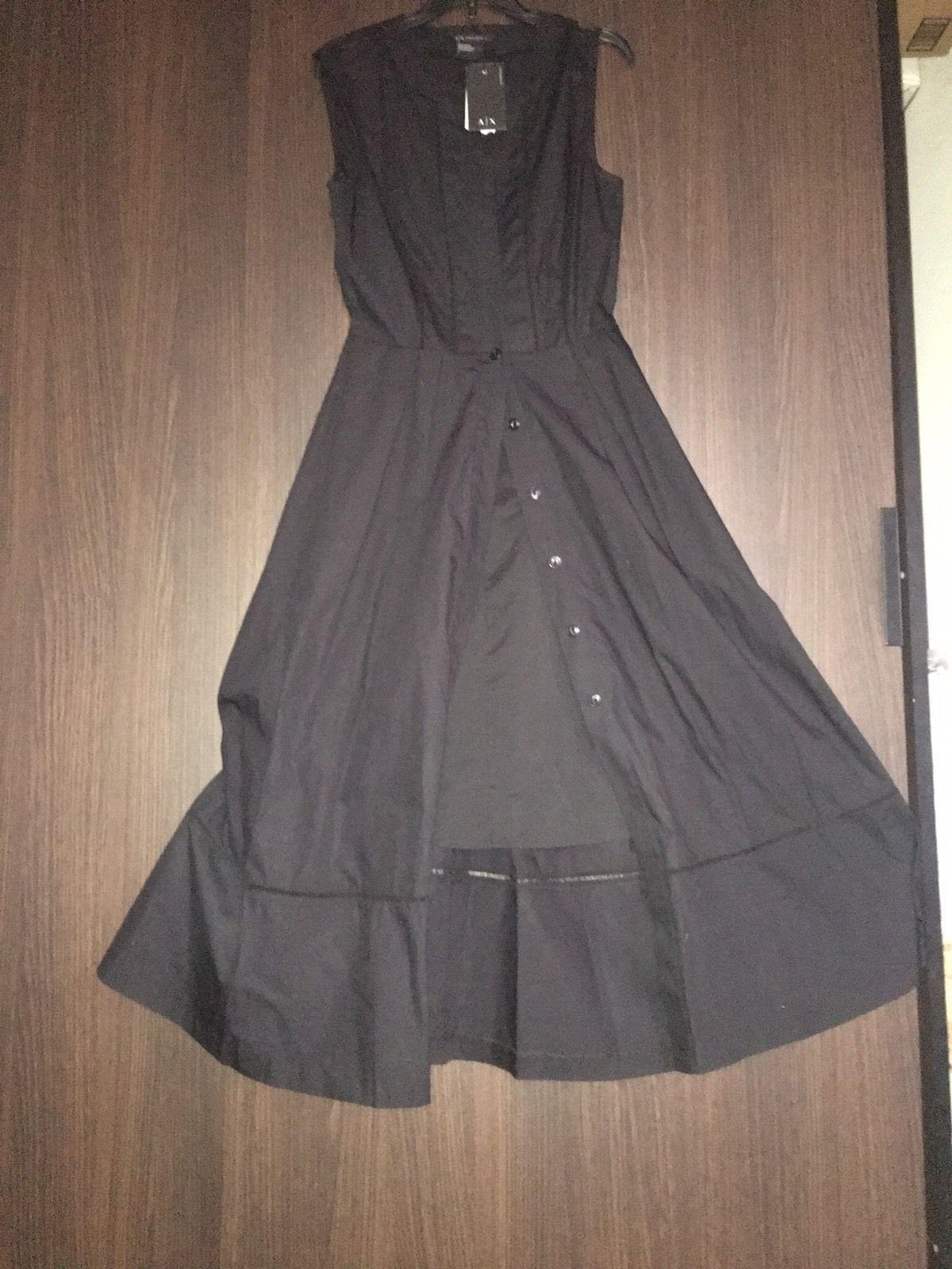 Nice New Dress Woman Armani Exchange 2017, Black Color, Size 4, midi Dress,  2017-2018 Check more at http://fashion-look.top/product/new-dress-woman-armani-exchange-2017-black-color-size-4-midi-dress-2017-2018/