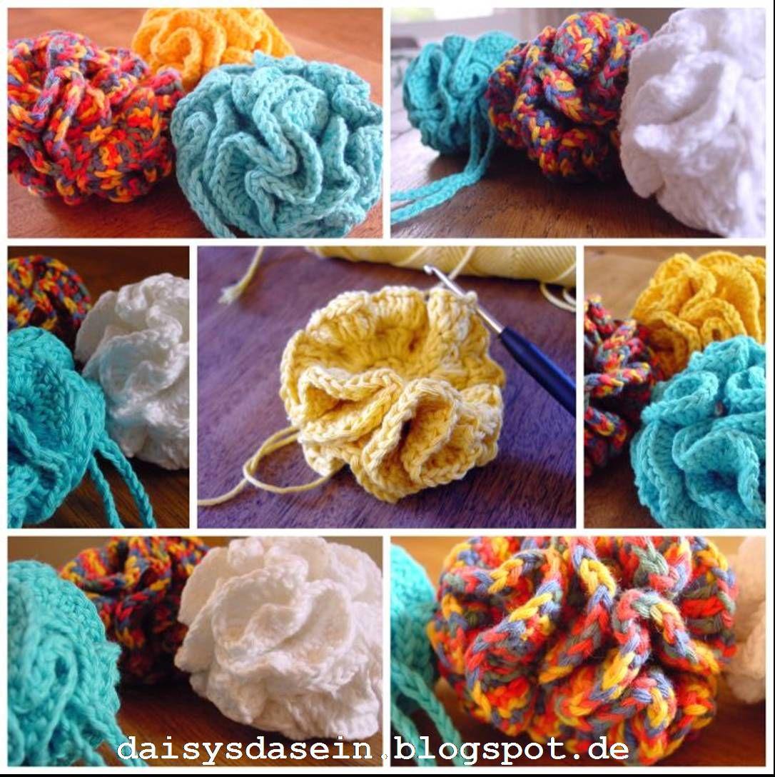 Duschpuschel Häkeln Tutorial Crochet Shower Puschel Basteln