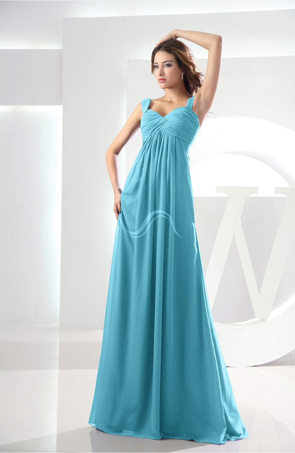 Turquoise bridesmaid dress casual empire zipper chiffon floor turquoise bridesmaid dress casual empire zipper chiffon floor length ruching ombrellifo Image collections