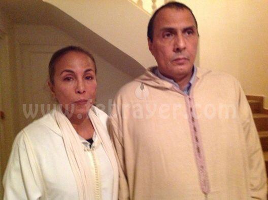 رؤوف و مليكة أوفقير في عزاء والدتهم ديسمبر 2013 Malika
