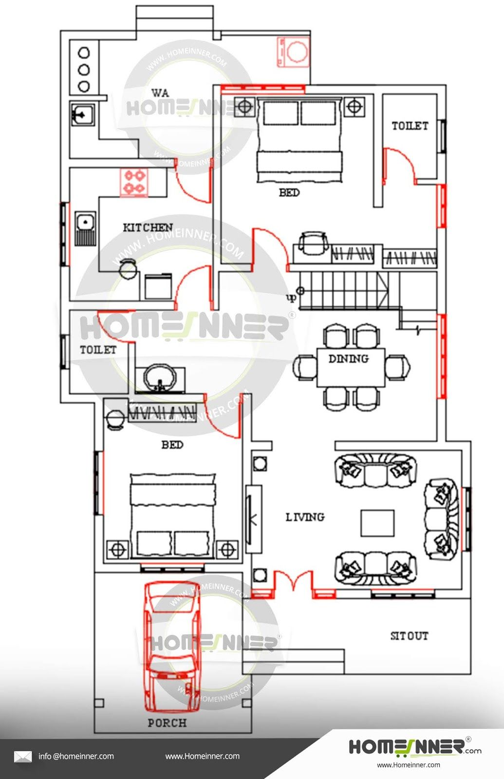 Free Kerala home design floor plan Kerala house design