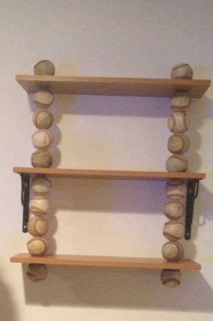 My DIY Baseball Shelf Comment For Directions