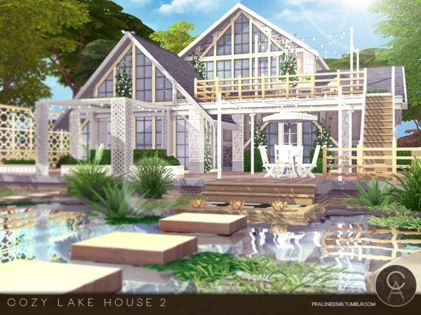 The Sims Resource Cozy Lake House 2 By Pralinesims Sims