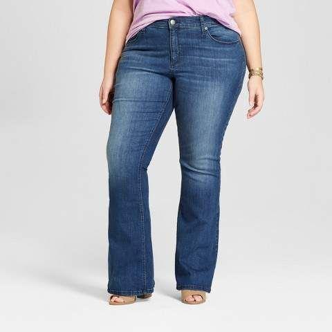 8e93c6dbeba9e Universal Thread Women s Plus Size Flare Jeans - Universal Thread Medium  Wash
