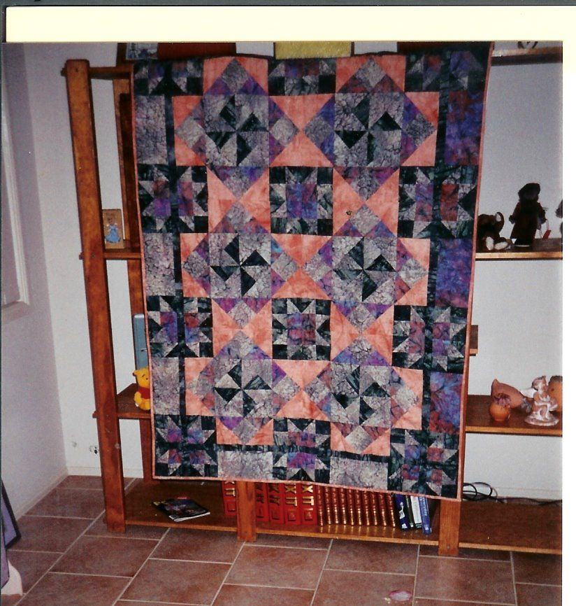My ceramic floor tile inspired me to make this quilt