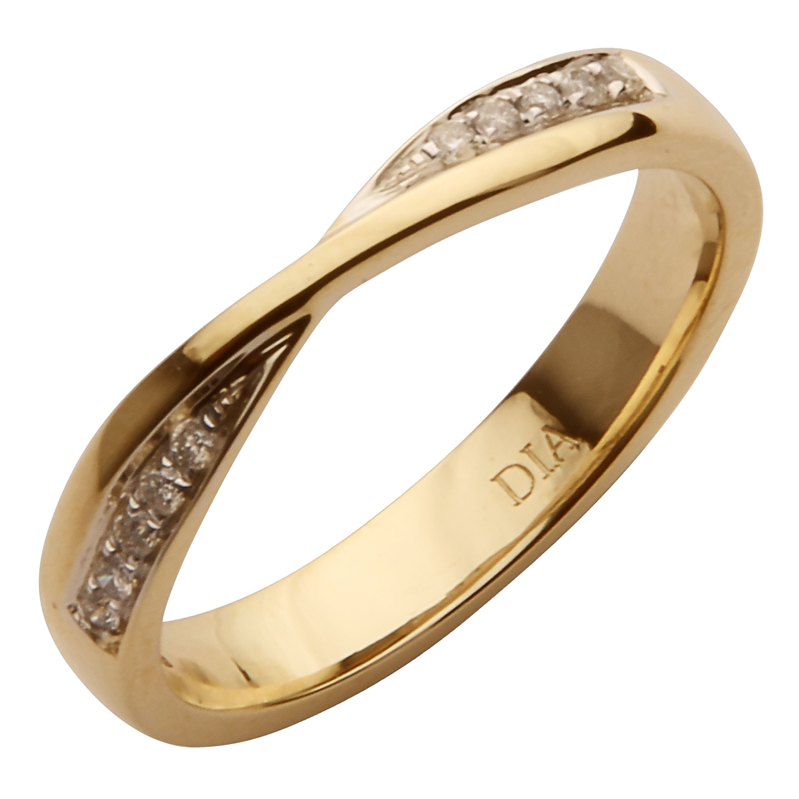 gold eternity anniversary matching and ring twisted curved stacking design engagement bands band wedding diamond full products shape