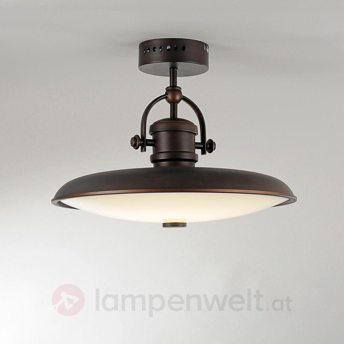 Rustikale LEDDeckenlampe Svende 140 Vorzimmer  Lampen