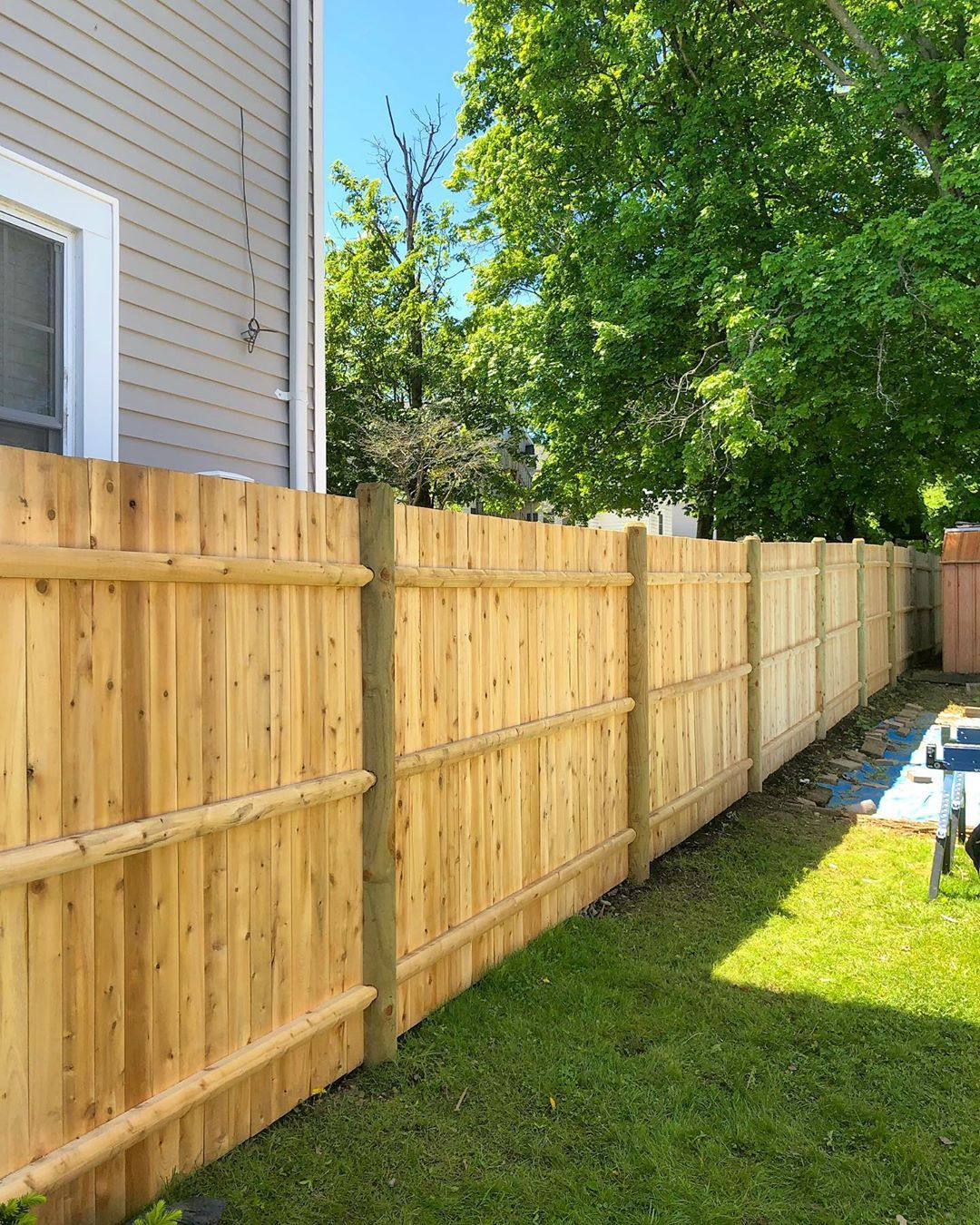 Cedar Season Panel Cedar 1x4 Board Flat Top Post Round Pressure Treated Contractor Paneling Cedar Cedar Fence