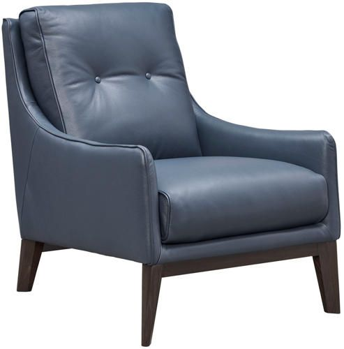 Best Natuzzi Genuine Leather Accent Chair Blue White Dining 400 x 300