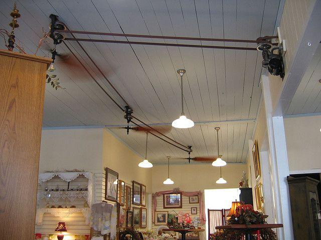 Ceiling Fans At Brewster Cafe Belt Driven Ceiling Fans Ceiling