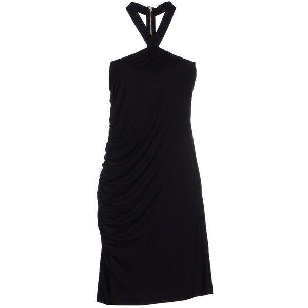 Liu •jo Jeans Short Dress ($110) ❤ liked on Polyvore featuring dresses, black, stretchy black dress, black mini dress, black dress, stretch mini dress and no sleeve dress