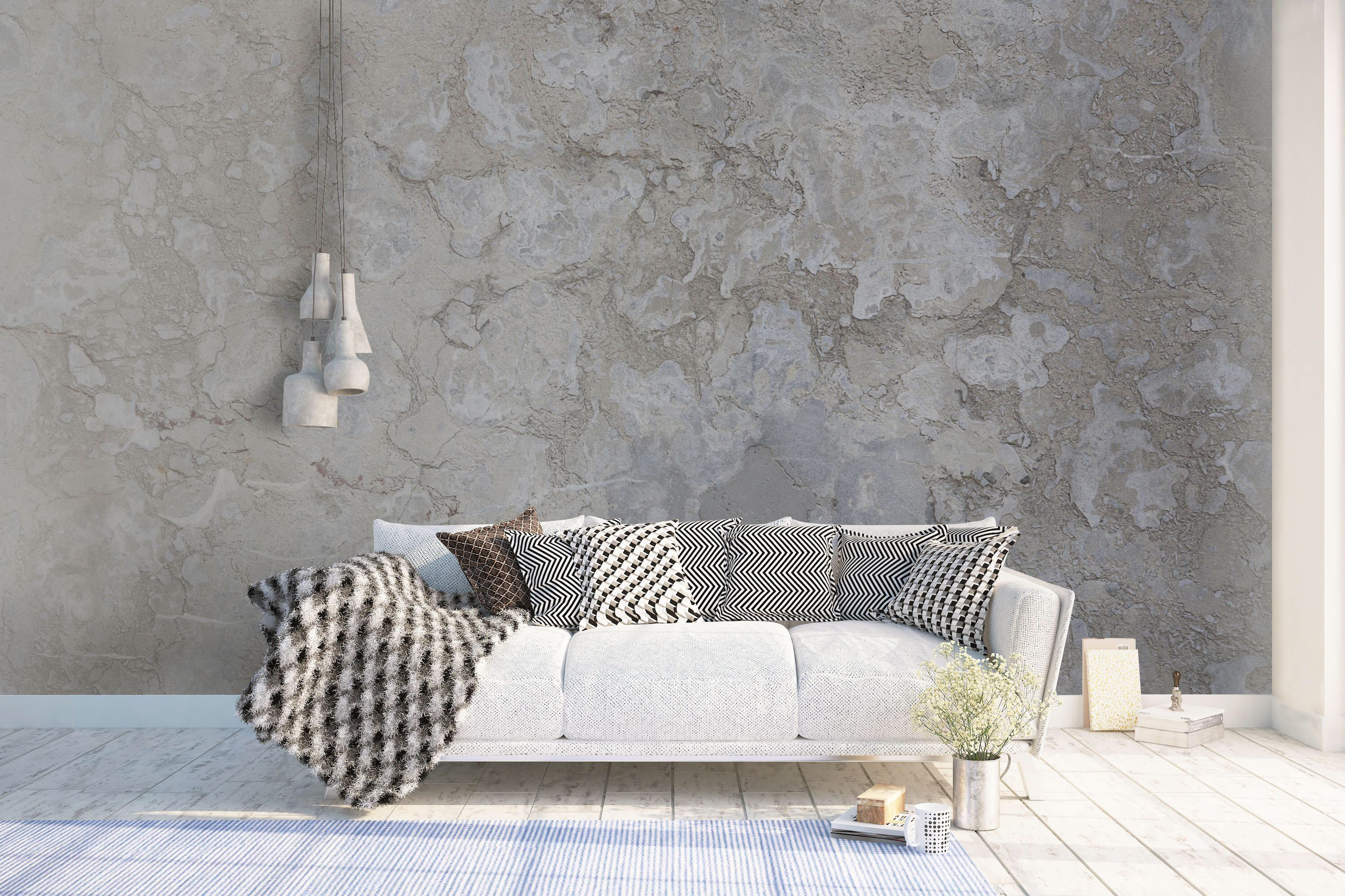 Concrete Wallpaper Murals Non Woven Wallpaper Made To Measure Feature Wall Wall Art Decals Home Home Wall Decor Concrete Wallpaper Wallpaper Living Room