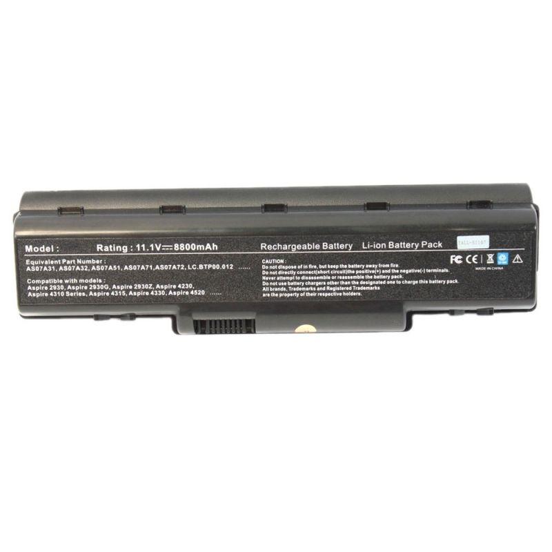 8800mah Battery For Acer Aspire 4715z 7715z As07a42 As07a71 As07a72 4740 Top Q Acer Aspire Laptop Acer Laptop Battery