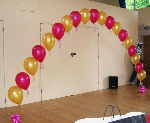 Balloons simple arch picture pinteres for How to build a balloon arch