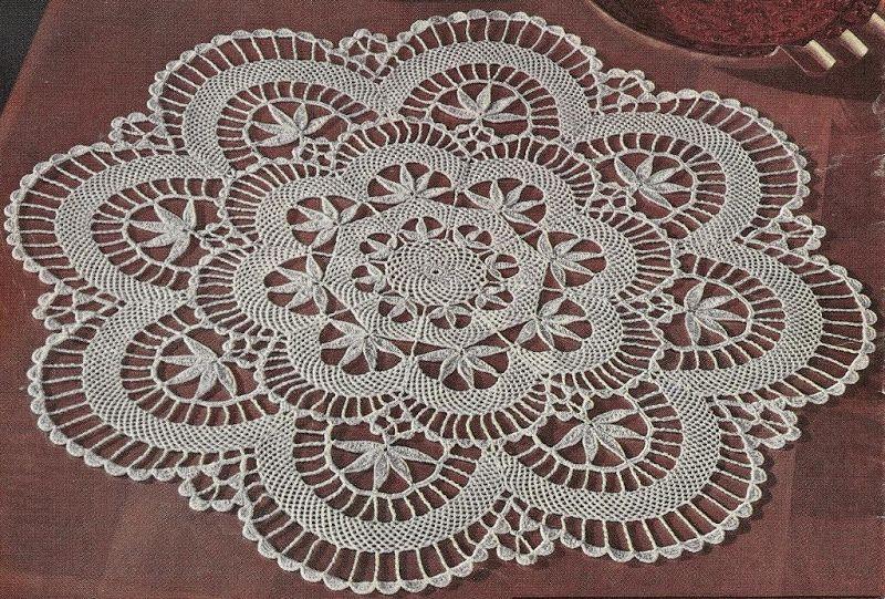 Vintage Crochet Pattern To Make Pineapple Doily Centerpiece Not A