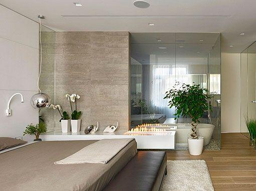 Dormitorio Moderno Y Elegante Con Bano Integrado Dormitorios Modernos Dormitorios Dormitorio Con Bano