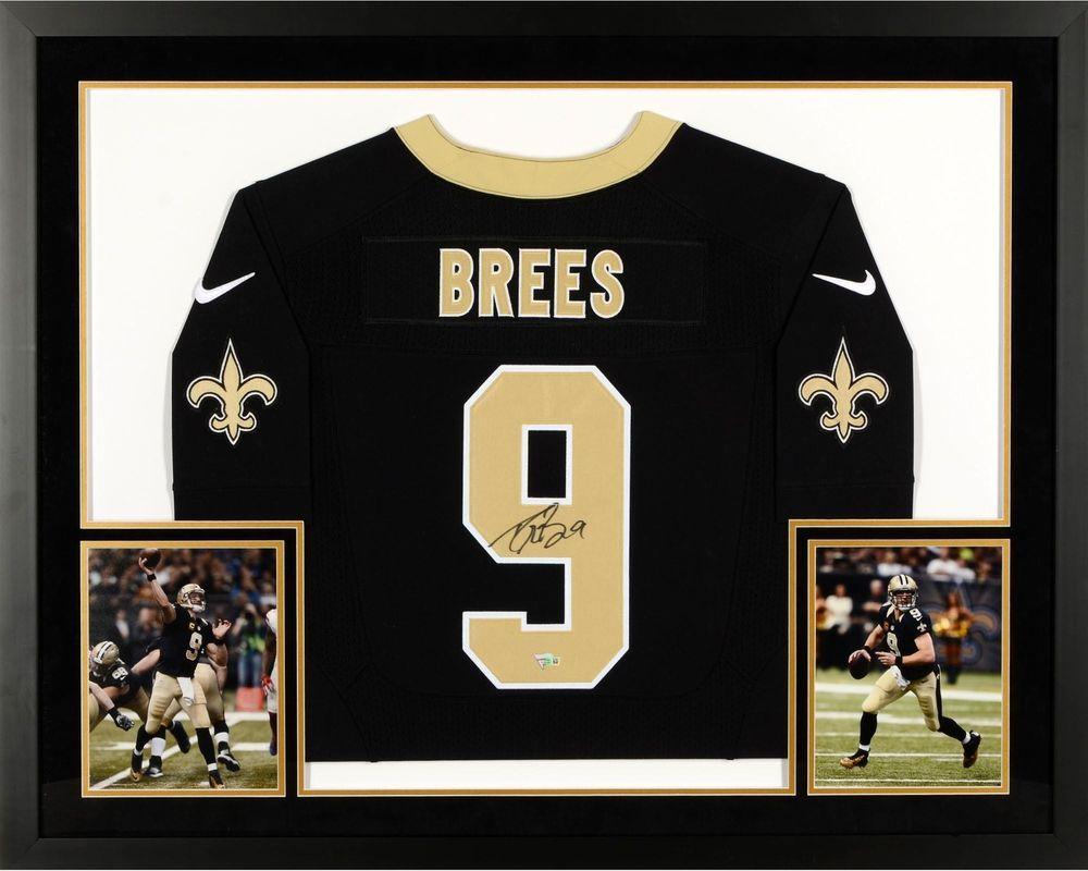 411e81660 Drew Brees New Orleans Saints Framed Signed Limited Black Jersey - Fanatics