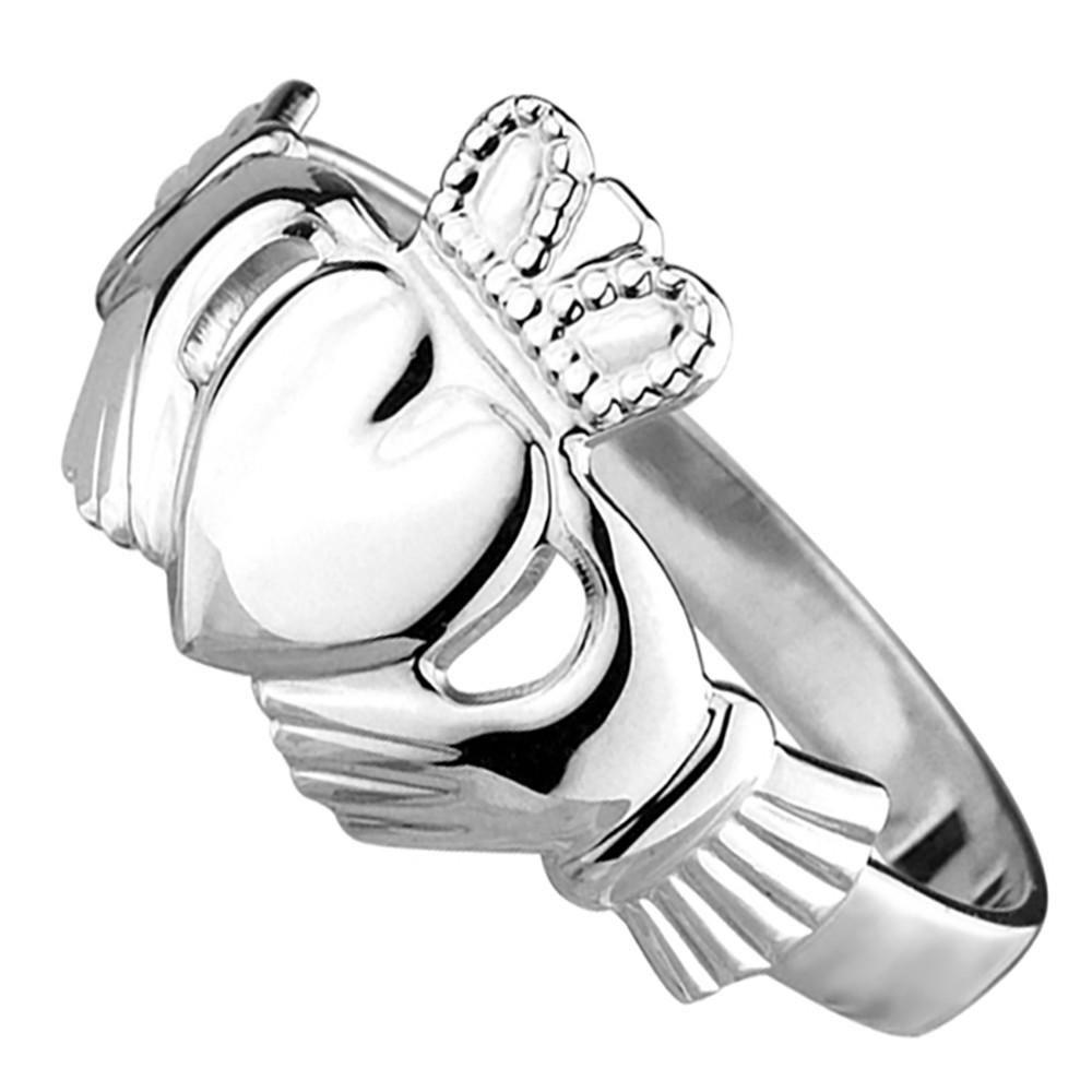 Sterling Silver Classic Claddagh Ring Claddagh, Claddagh