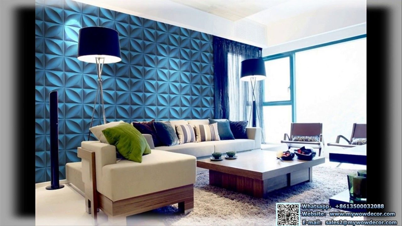 Environmentally Friendly Water Proof Designs 3d Pvc Wall Panel