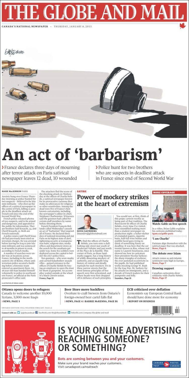 The Globe And Mail Kanada Periodismo The Globe Periodisticos
