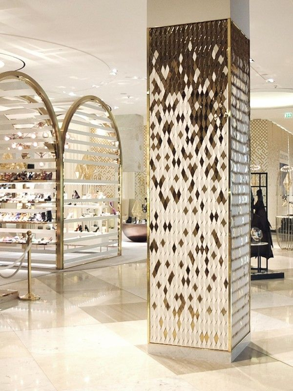 Diamond columns dubai mall giles miller studio for Column designs for interior