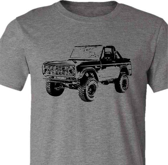 Vintage Ford Bronco T Shirt Retro Bronco Shirt 4x4 Gift Guy