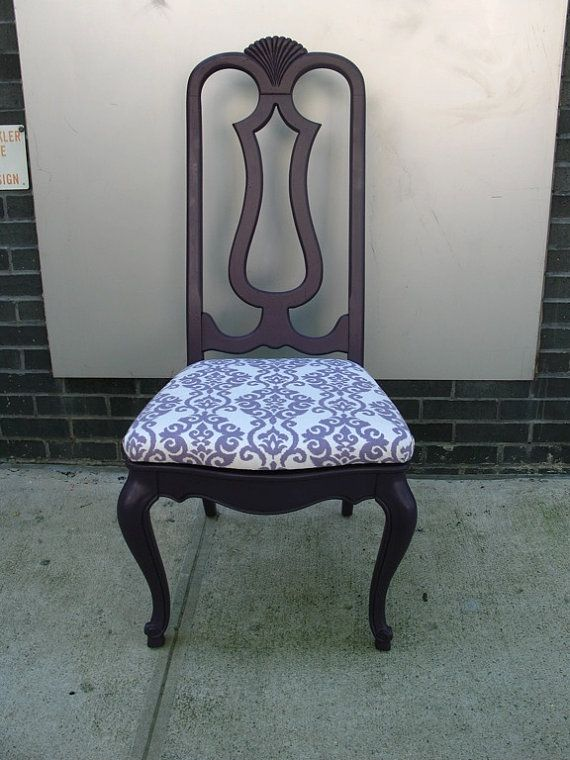 Upcycled Vintage Royal Purple Upholstered Vintage Chair