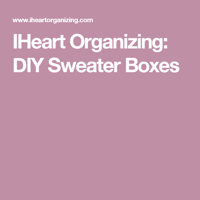 iheart organizing do it yourself