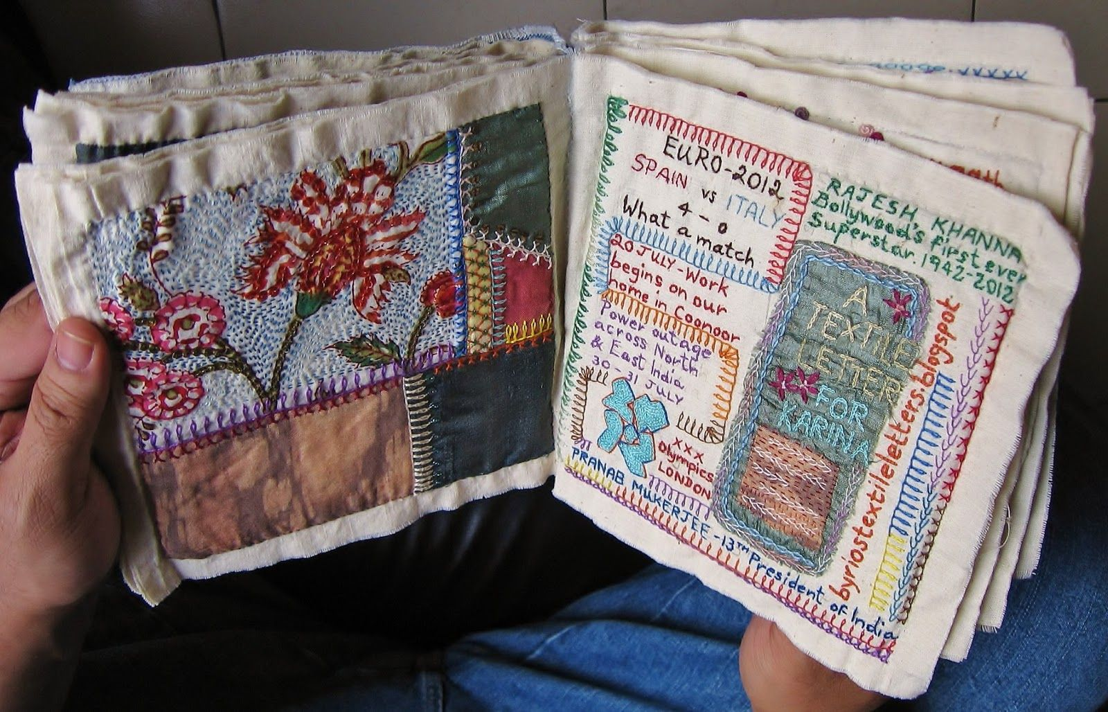 Million Little Stitches The Crazy Quilt Journal Book Pinterest