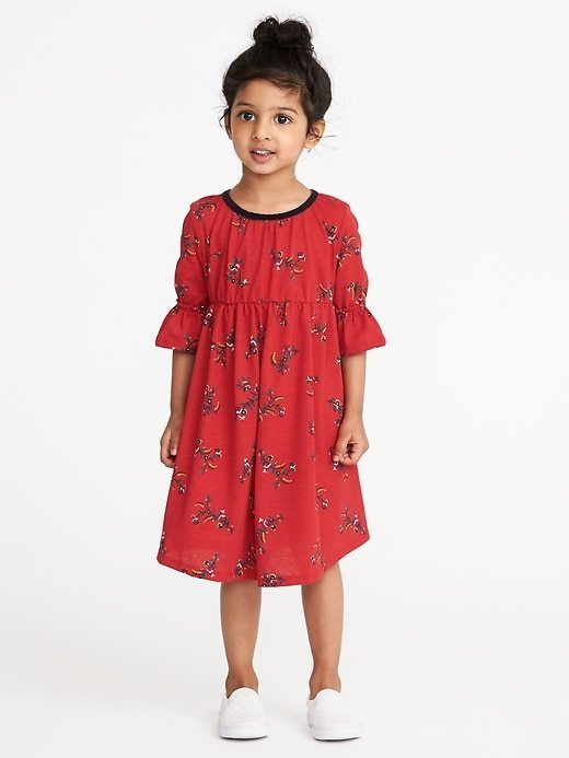 ONLY $6.97! Printed Cinched-Waist Midi for Toddler Girls # ...